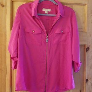 MICHAEL Michael Kors hot pink zip top